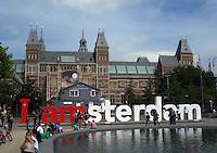 Rijksmuseum at Museumplein in Amsterdam