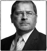 Slug: Boston Globe / Norquist.Date:  2012 - 03.Photographer: Mark Finkenstaedt for the Boston Globe.Location: The Norquist residence. Washington DC.Caption: Lobbyist Grover Norquist founder and president of Americans for Tax Reform.