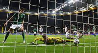 19th November 2019, Frankfurt, Germany; 2020 European Championships qualification, Germany versus Northern Ireland; Bailey Peacock-Farrell (NIrl) is beaten by Leon Goretzka (Ger) for 2:1