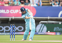 Jonny Bairstow (England) drives straight down the ground for four runs during Australia vs England, ICC World Cup Semi-Final Cricket at Edgbaston Stadium on 11th July 2019