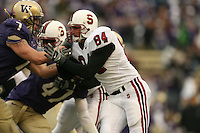 11 November 2006: Austin Gunder during Stanford's 20-3 win over the Washington Huskies in Seattle, WA.