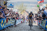 Philippe Gilbert (BEL/Quick Step floors) solo up the Oude Kwaremont<br /> <br /> 101th Ronde Van Vlaanderen 2017 (1.UWT)<br /> 1day race: Antwerp &rsaquo; Oudenaarde - BEL (260km)