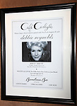 Opening Night of Debbie Reynolds at the Cafe Carlyle, Carlyle Hotel in New York City.<br />