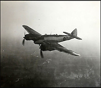 BNPS.co.uk (01202 558833)<br /> Pic: AdamPartridge/BNPS<br /> <br /> Sergeants Denys Chapman and Kenneth Leach's Beaufighter plane.<br /> <br /> The little-known story of a heroic Second World War pilot and navigator duo who were the real life version of Maverick and Goose from 80s film Top Gun has emerged after more than 70 years.<br /> <br /> Sergeants Denys Chapman and Kenneth Leach were both awarded a Distinguished Flying Medal - one of the air force's top awards - for their bravery fighting enemy aircraft in the 1940s.<br /> <br /> Unusually, Sergeant Leach got his when Command tried to give a second DFM to Sgt Chapman but he refused and insisted it go to his flying buddy for saving his life. <br /> <br /> The rare and important medals are now going up for sale together with Adam Partridge Auctioneers in Macclesfield, Cheshire.