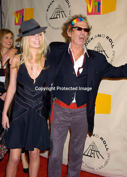 Theodora and Keith Richards..at the 2004 Rock and Roll Hall of Fame Award Ceremony on March 15, 2004 at the Waldorf Astoria Hotel in New York City. Photo by Robin Platzer, Twin Images