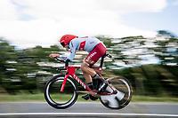 Nils Politt (DEU/Katusha-Alpecin)<br /> <br /> Stage 4 (ITT): Roanne to Roanne (26.1km)<br /> 71st Critérium du Dauphiné 2019 (2.UWT)<br /> <br /> ©kramon