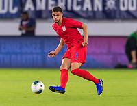 WASHINGTON, DC - OCTOBER 11: Matt Miazga #3 of the United States passes during a game between Cuba and USMNT at Audi Field on October 11, 2019 in Washington, DC.