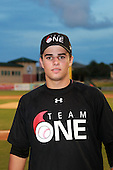 Outfielder/Third Baseman Rafael Montenegro (19) of Maracay High School participates in the Team One Futures Game East at Roger Dean Stadium on September 25, 2010 in Jupiter, Florida..  (Copyright Mike Janes Photography)