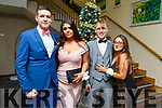 Gitas Marcisauskas, Clare O'Meara, Andrew Tees and Tajana Miletic enjoying the Mercy Mounthawk Debs in the Ballyroe Heights Hotel on Thursday night.