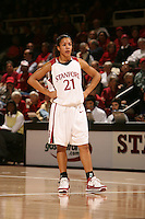 2 December 2007: Stanford Cardinal Rosalyn Gold-Onwude during Stanford's 62-41 win against the UC Davis Aggies at Maples Pavilion in Stanford, CA.