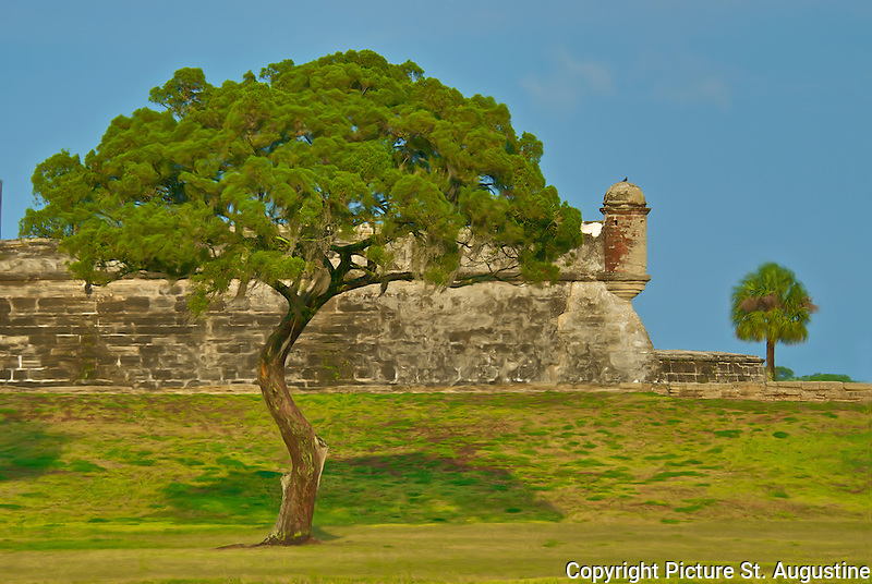 Castillo de San Marcos National Monument in historic downtown St. Augustine, Florida