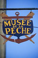 Europe/France/Bretagne/29/Finistère/Concarneau: enseigne du musée de la pêche