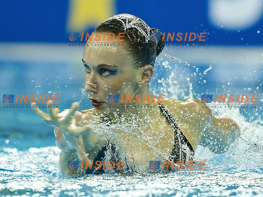 Shanghai ,  (CHN) 16-31 July 2001.XIV FINA Swimming World Championships.day 05.Solo Free.Final.Natalia Ischenko Russia RUS.Gold Medal.Photo Insidefoto / Giorgio Scala