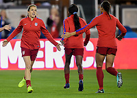 San Jose, CA - Sunday November 12, 2017: Kelley O'Haran during an International friendly match between the Women's National teams of the United States (USA) and Canada (CAN) at Avaya Stadium.
