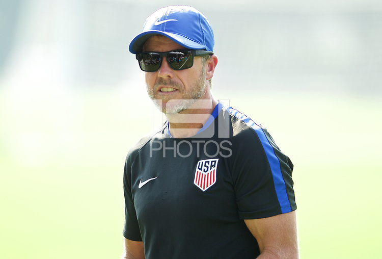 Portland, OR - Wednesday August 09, 2017: John Hackworth during friendly match between the USMNT U17's and Chile u17's at Nike World Headquarters in Portland, OR.