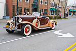 March 31, 2013 - Garden City, New York, U.S. - Car enthusiasts gather for the 58th Annual Easter Sunday Vintage Car Parade and Show sponsored by the Garden City Chamber of Commerce. Hundreds of authentic old motorcars, 1898-1988, including antiques, classic, and special interest participated in the parade.