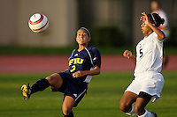 Florida International University Golden Panthers Women's Soccer versus the University of Miami Hurricanes in Coral Gables, Florida on Wednesday, September 6, 2006...Sophomore forward Maria Gualdron (3)