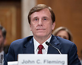 John C. Fleming testifies before the United States Senate Committee on Environment and Public Works on his nomination to be assistant secretary of Commerce for Economic Development Deputy Assistant Secretary for Health Technology Reform, Department of Health and Human Services on Capitol Hill in Washington, DC on Thursday, July 19, 2018.<br /> Credit: Ron Sachs / CNP