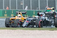 March 20, 2016: Fernando Alonso (ESP) #14 from the McLaren Honda Formula 1 team at turn one of the 2016 Australian Formula One Grand Prix at Albert Park, Melbourne, Australia. Photo Sydney Low