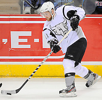 San Antonio Rampage's David Marshall skates during the second period of an AHL hockey game against the Oklahoma City Barons, Monday, May 7, 2012, in San Antonio. Oklahoma City won 2-1 in overtime. (Darren Abate/pressphotointl.com)