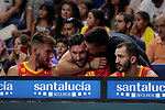 Rudy Fernandez of Spain and Felipe Reyes during the Friendly match between Spain and Dominican Republic at WiZink Center in Madrid, Spain. August 22, 2019. (ALTERPHOTOS/A. Perez Meca)