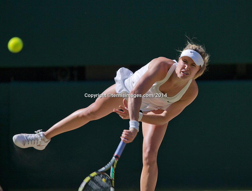 England, London, 28.06.2014. Tennis, Wimbledon, AELTC, Semifinal match between Eugenie Bouchard and Simone Halep, Pictured: Eugenie Bouchard (CAN)<br /> Photo: Tennisimages/Henk Koster
