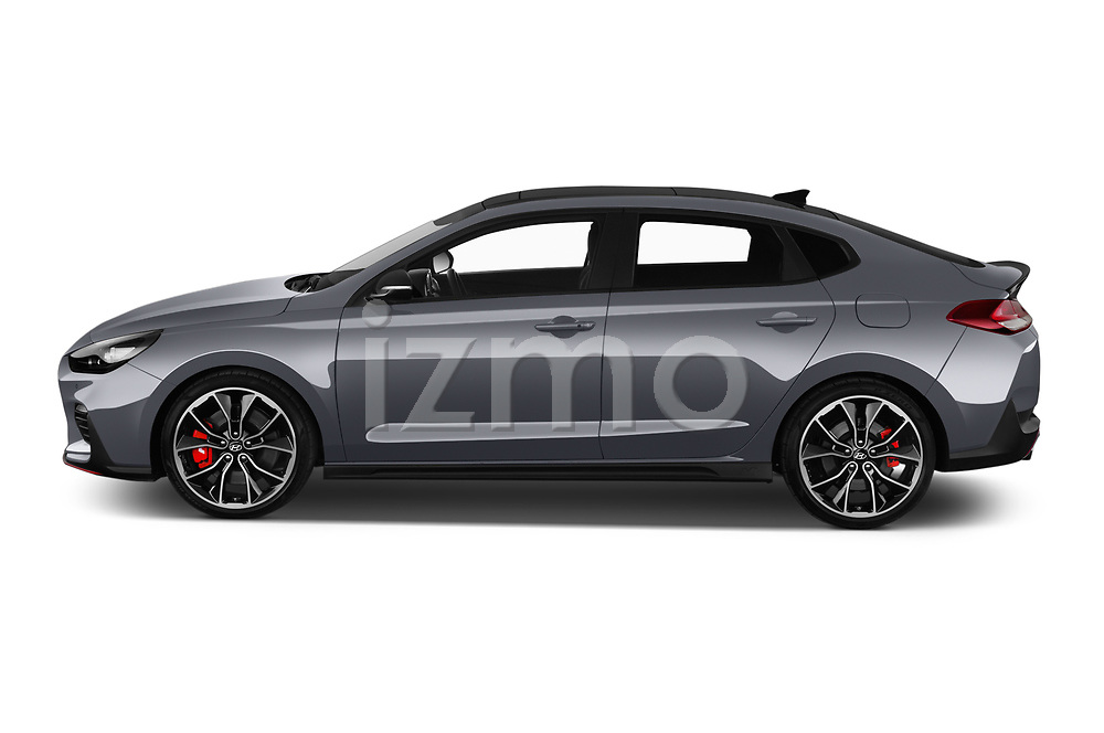 Car Driver side profile view of a 2019 Hyundai i30-Fastback-N Performance-Pack 5 Door Hatchback Side View