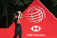 Francesco Molinari (ITA) on the 9th tee during the final round of the WGC HSBC Champions, Sheshan Golf Club, Shanghai, China. 03/11/2019.<br /> Picture Fran Caffrey / Golffile.ie<br /> <br /> All photo usage must carry mandatory copyright credit (© Golffile | Fran Caffrey)