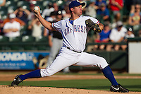 Texas Rangers pitcher Roy Oswalt #51 delivers a pitch during his rehab assignment with the Round Rock Express during the Pacific Coast League baseball game against the Albuquerque Isotopes on June 2, 2012 at The Dell Diamond in Round Rock, Texas. (Andrew Woolley/Four Seam Images)