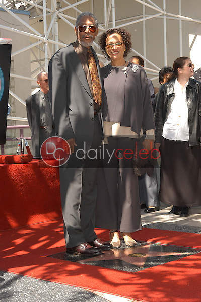 Morgan Freeman and wife