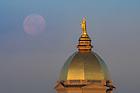 November 15, 2016; Dome and setting moon (Photo by Matt Cashore/University of Notre Dame)