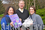 The Lets Get Kerry Walking campaign is inviting everyone to attend their second organised walk on April 14th. .L-R Cora Carrigg of KRSP, Micheal O' Mhuircheartaigh, and Anne Culloty of the HSE.