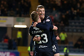 6th February 2019, Dens Park, Dundee, Scotland; Ladbrokes Premiership football, Dundee versus Kilmarnock; Andrew Nelson of Dundee celebrates with Craig Curran after scoring for 1-0 in the 8th minute