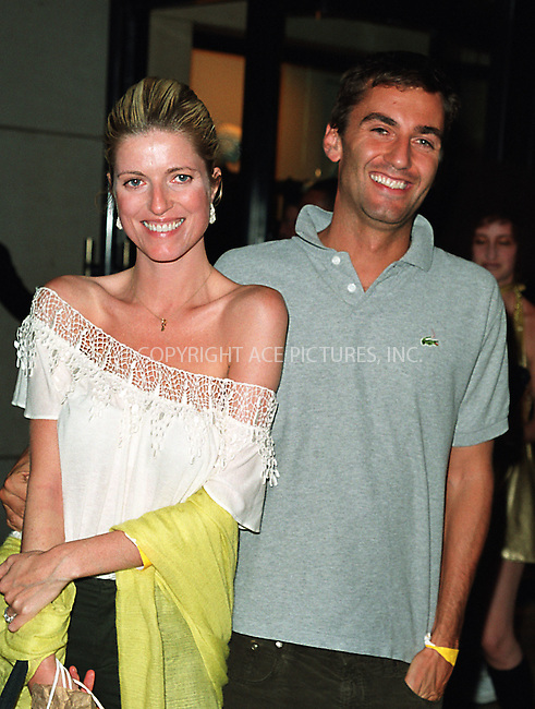"Lucy Sykes and her husband attending the New York Premiere of ""Austin Powers in Goldmember"" at Barney's New York on Madison Avenue in New York. July 24, 2002. Please byline: Alecsey Boldeskul/NY Photo Press.   ..*PAY-PER-USE*      ....NY Photo Press:  ..phone (646) 267-6913;   ..e-mail: info@nyphotopress.com"