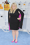 LOS ANGELES, CA - APRIL 12: Actress Rebel Wilson arrives at the 2015 MTV Movie Awards at Nokia Theatre L.A. Live on April 12, 2015 in Los Angeles, California.