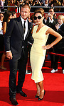 MLS player David Beckham and wife Victoria Beckham arrive at the 2008 ESPY Awards held at NOKIA Theatre L.A. LIVE on July 16, 2008 in Los Angeles, California.