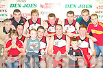 WINNERS: St Mary's team celebrate after defeating St Pauls in the Division 1 Mens final at the St Mary's basketball blitz in Castleisland Community Centre on Sunday. Front l-r: Jack Reidy, Darby Buckley, Darragh Broderick, Niall Murphy, Maurice Casey, Tomas Fleming Jnr and Eamon John O'Donoghue. Back l-r: Vince Barry, Liam Brosnan, Paudie Fleming, Declan Culhane, Tom Fleming, Michael Broderick and Declan Wall.   Copyright Kerry's Eye 2008