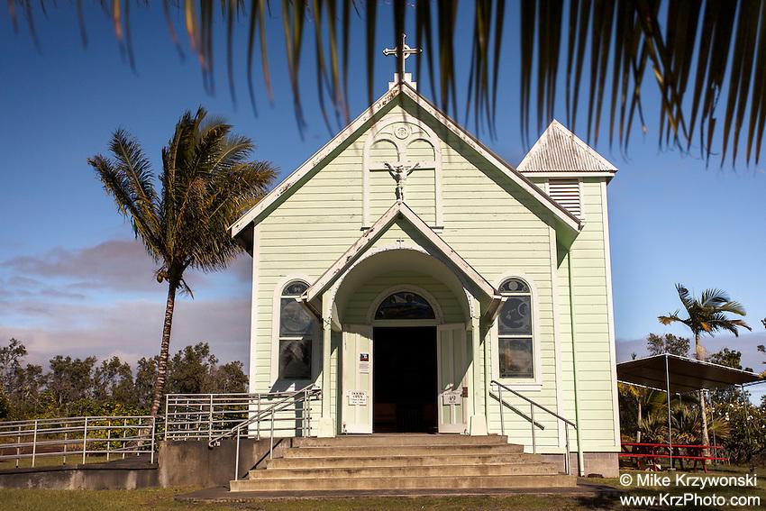 Star of the Sea Catholic Church in Kalapana, Big Island, Hawaii