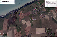 BNPS.co.uk (01202) 558833. <br /> Pic: GoogleMaps<br /> <br /> A map of the crash site. <br /> <br /> An extraordinary photograph of two RAF airmen enjoying champagne and caviar with the charismatic German officer who had just captured them has been uncovered.<br /> <br /> The image shows the downed British servicemen with Panzer commander Hans von Luck.<br /> <br /> The German made a witty point of telling any captured Allied servicemen who fell into his hands that they were in luck as he was known to be a kindly officer who treated PoWs well.<br /> <br /> His hospitality seemed to even extend to rewarding the enemy with the luxuries of Nazi-occupied France.<br /> <br /> The remarkable colourised photograph has now been published in the British magazine Iron Cross.