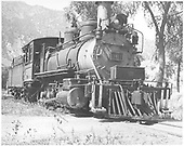 3/4 low-angle engineer's-side vew of D&amp;RGW #361 in Cimarron, CO.<br /> D&amp;RGW  Cimarron, CO  Taken by Vollrath, Harold K. - 8/1940