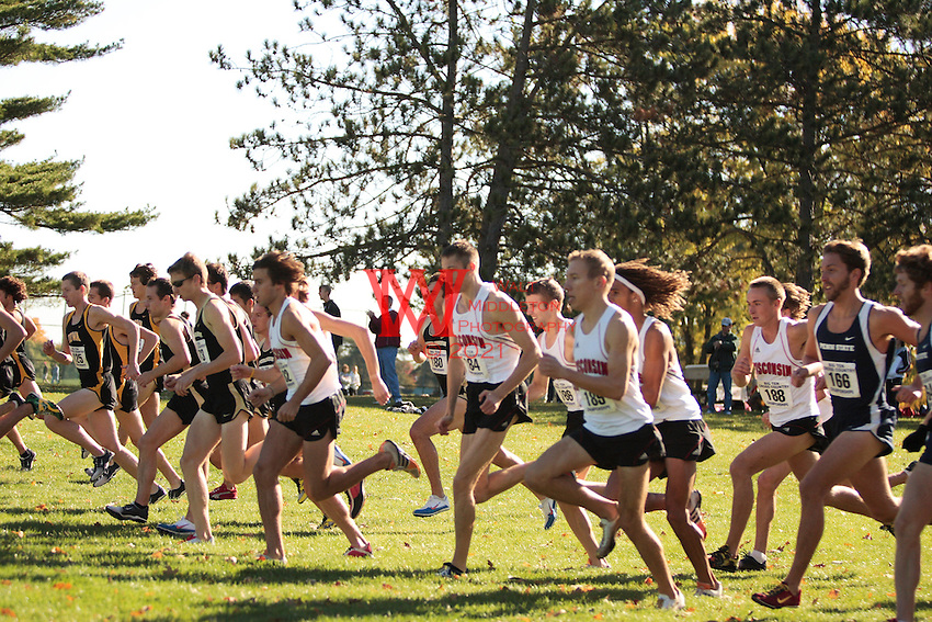 The Big Ten Men's Cross Country Championships, 10,28,2007. University Of Wisconsin. The University of Wisconsin's start at the 2007 Men's Big Ten Cross Country Championships hosted by the Ohio State University on October 28, 2007