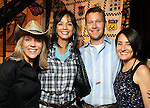 From left: Nisha Patterson and Nanette West with Amy and Adam Johnston at the Cattle Baron's Ball at the George Ranch Saturday April 24,2010.. (Dave Rossman Photo)