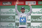 Alejandro Valverde (ESP) Movistar Team retains the Combined Jersey at the end of Stage 15 of the La Vuelta 2018, running 178.2km from Ribera de Arriba to Lagos de Covadonga, Spain. 9th September 2018.               Picture: Unipublic/Photogomezsport | Cyclefile<br /> <br /> <br /> All photos usage must carry mandatory copyright credit (&copy; Cyclefile | Unipublic/Photogomezsport)