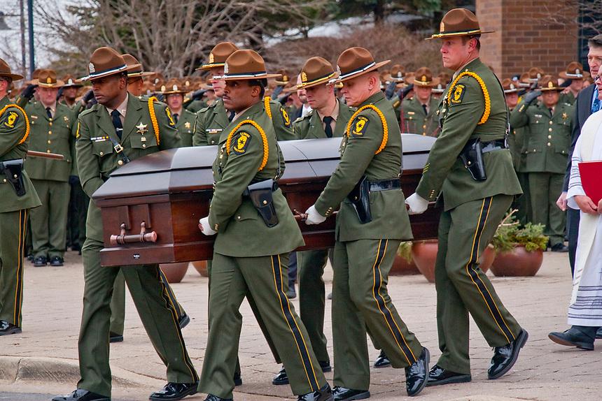 Illinois State Trooper Christopher Lambert Funeral Barrington Illinois 1-19-19
