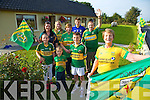 Divided loyalty's in the Brosnan family as Kerry play Donegal in the all Ireland Final. Pictured Frances Brosnan ,  Back left to right, Joshua Lynch, Grainne Shanahan, Mary Shanahan, Stephanie Griffin, Frances Griffin, Aodhan Shanahan, Daragh Shanahan (Kerry Minors) and Terry Brosnan