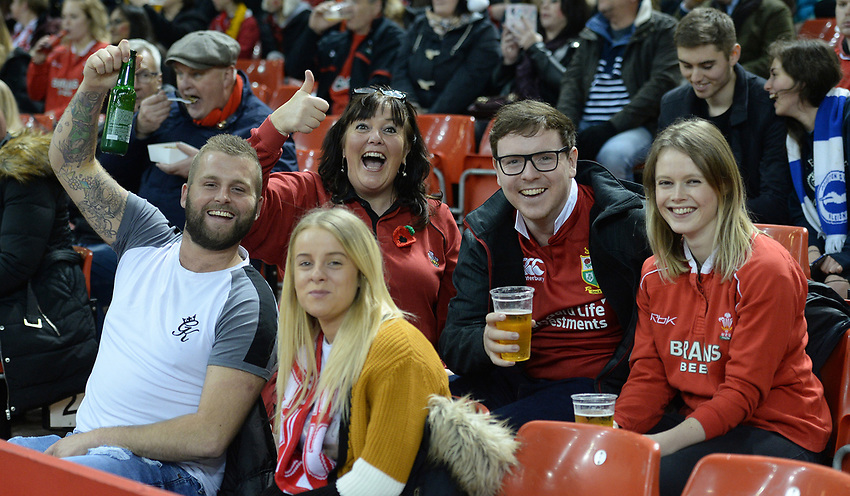 Fans prior to kick off <br /> <br /> Photographer Ian Cook/CameraSport<br /> <br /> Under Armour Series Autumn Internationals - Wales v Australia - Saturday 10th November 2018 - Principality Stadium - Cardiff<br /> <br /> World Copyright © 2018 CameraSport. All rights reserved. 43 Linden Ave. Countesthorpe. Leicester. England. LE8 5PG - Tel: +44 (0) 116 277 4147 - admin@camerasport.com - www.camerasport.com