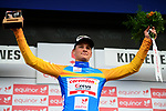 Mathieu Van Der Poel (BEL) Corendon-Circus wins Stage 1 and wears the leaders Yellow Jersey of the 2018 Artic Race of Norway, running 184km from Vadso to Kirkenes, Norway. 16th August 2018. <br /> <br /> Picture: ASO/Pauline Ballet | Cyclefile<br /> All photos usage must carry mandatory copyright credit (&copy; Cyclefile | ASO/Pauline Ballet)