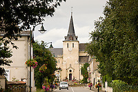 Town of Coudray with typical Norman church in Normandy, France