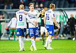 ***BETALBILD***  <br /> Solna 2015-05-10 Fotboll Allsvenskan AIK - IFK Norrk&ouml;ping :  <br /> Norrk&ouml;pings Alexander Fransson tackar lagkamrater efter matchen mellan AIK och IFK Norrk&ouml;ping <br /> (Foto: Kenta J&ouml;nsson) Nyckelord:  AIK Gnaget Friends Arena Allsvenskan IFK Norrk&ouml;ping jubel gl&auml;dje lycka glad happy