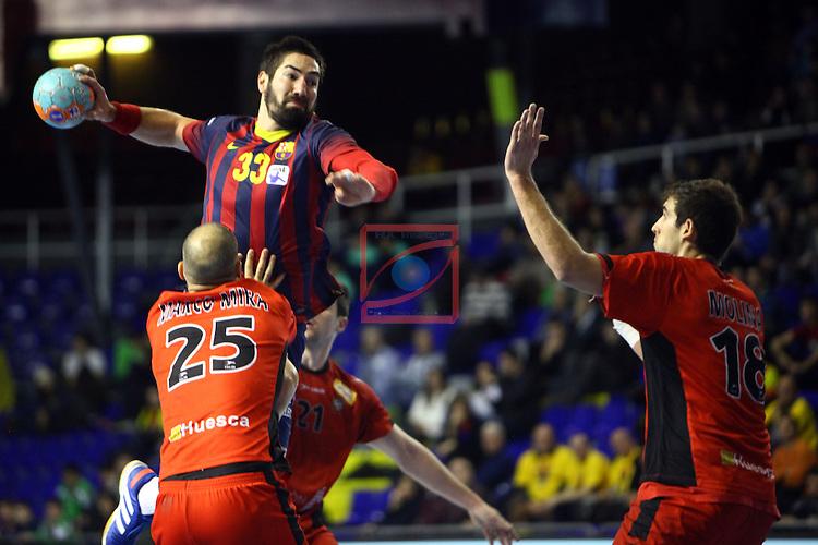 XXIV Copa ASOBAL - Game: 2<br /> FC Barcelona vs BM Huesca: 39-25.<br /> Marco Mira vs Karabatic.